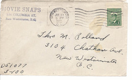 19581) Canada New Westminster Post Mark Cancel 1945 - Brieven En Documenten