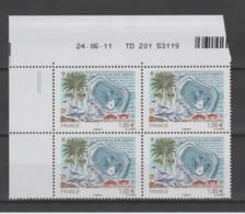 FRANCE / 2011 / Y&T N° 4611 ** : Île De Clipperton X 4 - Coin Daté 2011 06 24 - TD 201 (=) - 2010-....
