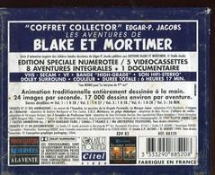 """VHS / K7 Vidéo BLAKE ET MORTIMER """" COFFRET 5 K7 Tirage Limité N° 4333 """" EDGAR P. JACOBS - Collections & Sets"""