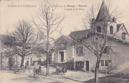 Cpa - 38 - Rovon Environs De Vinay - Animée - Place De L'eglise - Edi Convert - Altri Comuni