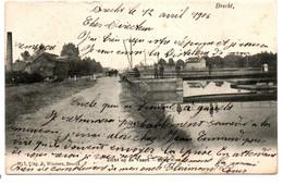 Brecht - Zicht Op De Vaart - Brug - N°7 - Uitg: F. Wouters, Brecht - Circulée: 1906 - 2 Scans - Brecht