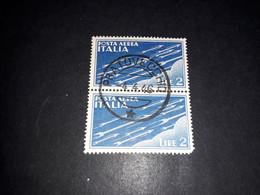 """A10MIX5 REGNO D'ITALIA 1930 POSTA AEREA SOGGETTI ALLEGORICI LIRE 2 TIMBRO PRATOVECCHIO """"O"""" - Used"""