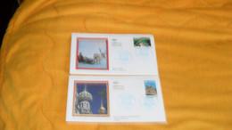 LOT 2 ENVELOPPES FDC DE 2003.../ UNESCO LAPONIE / EGLISE DE LA RESURRECTION SAINT PETERSBOURG...CACHETS PARIS + TIMBRE - 2000-2009