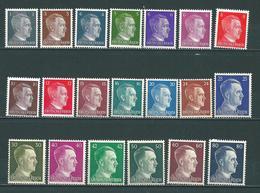 A. Hitler 1-80 Pfennig ** (0737) - Unused Stamps