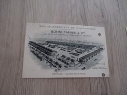CPA 54 Meurthe Et Moselle Nancy Pub Trous D'archivage Sohm Frères Bois Et Matériaux De Construction Einville - Nancy