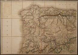 1820. MAPS OF THE KINGDONS OF SPAIN AND PORTUGAL INCLUDING ALGARVE. Mapa Cuartelado Y Entelado En Cuatro Secciones Por E - Unclassified