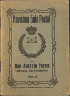 1922. NOVISIMA GUIA POSTAL. Antonio Torres, Oficial De Correos. Igualada, 1922-1923. - Unclassified