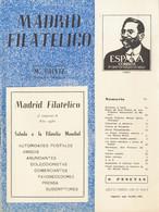 (1934ca). Conjunto De Revistas MADRID FILATELICO, Años 1959, 1960, 1961 Y 1962 Completas Y Un Número De Octubre De 1934. - Unclassified
