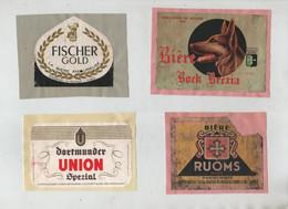 Fischer Gold Bière Ruoms Lauer Bock Breria Bourg Dortmunder Union Spezial - Bier