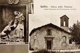 Cartolina - Gubbio - Chiesa Della Vittorina - S. Francesco E Il Lupo - 1950 Ca. - Perugia