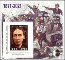 CNEP N°  86 De 2021 - Bloc Autoadhésif - Salon D'automne, Louise Michel - CNEP
