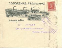 HISTORIA POSTAL CARTA Comercial  LOGROÑO - GESTONA  1938    NL675 - Otros