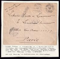 DDZ 620 - LEVANT FRANCAIS - Lettre De MER NOIRE Via CONSTANTINOPLE Galata TP Sage 25 C 1901 + Ovale BM Vers PARIS - Cartas