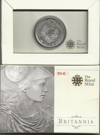 ANGLETERRE - 2 Livres - Britannia - 2010 - SUP/FDC - Argent - 32,45 Gr - 40 Mm - 2 Pounds