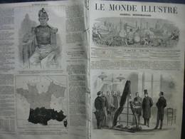LE MONDE ILLUSTRE 467 ROI DE SIAM / INCENDIE THEATRE BREST/ - 1850 - 1899
