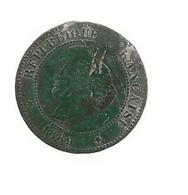 FRANCE / Monnaie Pièce Cinq 5 Centimes Cérès Oudiné 1889 A ( Belle Patine Verte ) / état Passable - C. 5 Centimes