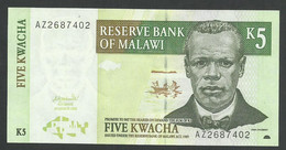 MALAWI. 5x2 + 10 KWACHA. 2004/2009 Pick 36/51/52d. LOT OF 3 BANKNOTES. UNC / NEUF. - Malawi