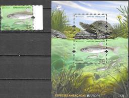 PORTUGAL, 2021, MNH, EUROPA, ENDANGERED SPECIES, FISH, TURTLES, 1v+S/SHEET - Sonstige