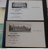 BAUDOUR Institut Médico-thermal De Baudour Maison De Traitements Et Station Thermale Radio Institut 2 Cartes - Andere