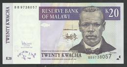 MALAWI. 20 + 50 KWACHA. 2007 Pick 52c + 53c. LOT OF 2 BANKNOTES. UNC / NEUF. - Malawi