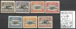 [860047]TB//*/Mh-c:63e-Bolivie 1924 - N° 124/30, Série Complète, Signés, Avions, Transports - Bolivia