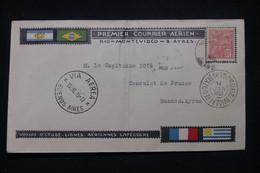 BRÉSIL - Enveloppe 1er Vol Rio / Montevideo / Buenos Aires En 1925 - L 99303 - Storia Postale