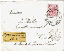 CTN68ETR-  AUTRICHE  LETTRE RECOMMANDEE REICHENBERG AVRIL 1898 - Storia Postale