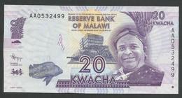 MALAWI. 20 + 50 + 100 + 200 KWACHA. 2012 Pick 57a /  60a. LOT OF 4 BANKNOTES. UNC / NEUF. - Malawi