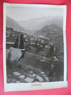 Grande Photo Village De BETHMALE Ariège 09 Pyrénées Années  30's  40 X 30 Cm - Places