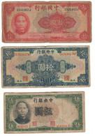 CHINALOT 6 BANKNOTES1928-1941 - China