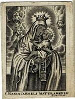 S. MARIA CARMELI -  Oude Kopergravure / Ancienne Gravure Sur Cuivre / Old Copperplate - A. VOET  -  7 X 8,5 Cm. - Santini
