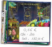 Sous Faciale France En Euros : 200 Timbres Neufs à 0,56 € =112 € -35% : 72,8 € + 5€ (participation LR2). - Unused Stamps
