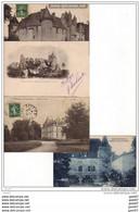 4 CPA Des Beaux CHATEAUX De FRANCE Ref  B..435 - Castles