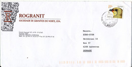 Portugal Cover Sent To Denmark 2001 ?? Single Franked BIRD - Covers & Documents
