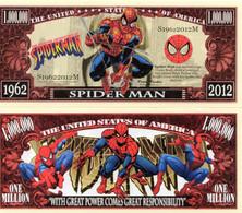 USA 1 Million Dollar Banknote 'Spiderman' (Peter Parker) - NEW - UNC & CRISP - Autres - Amérique