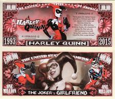 USA 1 Million Dollar Novelty Banknote 'Harley Quinn' (DC Comics - Warner Bros) UNC&CRISP - Autres - Amérique