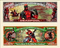 USA 1 Million Dollar Novelty Banknote 'Deadpool' (Marvel Comics) - NEW - UNC & CRISP - Autres - Amérique