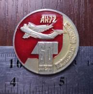 Aviation Metal Badge Lapel Pin Airplane Antonov An-72 Soviet Union USSR Avia 60th Anniversary Of The October Revolution - Aerei