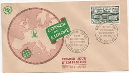 FRANCE Yvert No. 923 - FDC - Strasbourg, 31 Mai 1952 - Conseil De L'Europe - 1950-1959