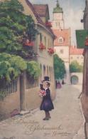482059Herlichen Glückwunsch Zum Geburtstage.1927.(sehe Ecke Und Kanten( - Anniversaire