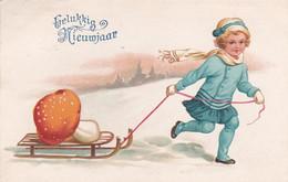 482060Gelukkig Nieuwjaar. 1929.(minuscule Vouwen In De Hoeken) - Nouvel An