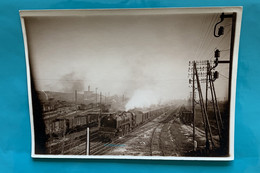 Locomotive Est 241 009 - Phototrain Ligne 4 - 1937- France Champagne Aube Troyes10 Gare Loc Loco Vapeur Motrice SNCF - Trains