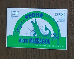 AUTOCOLLANT STICKER - ALAIN MARRAGOU - PÊCHE - CHASSE - CENTRE COMMMERCIAL 12450 LA PRIMAUBE - Stickers