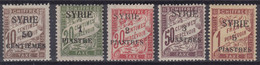 SYRIE : SERIE TAXE SURCHARGEE N° 22/26 NEUVE * GOMME AVEC CHARNIERE - Timbres-taxe