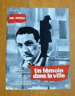 Un Témoin Dans La Ville : Dossier De Presse - Lino Ventura, Sandra Milo, Robert Dalban - 1959 - Cinema Advertisement