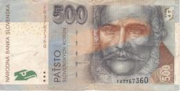 BILLETE DE ESLOVAQUIA DE 500 KORUN DEL AÑO 2000 (BANK NOTE) - Slowakije