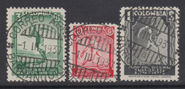 Colombia, Scott 445-447, Used - Colombia