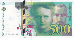 BILLETE DE FRANCIA DE 500 FRANCS DEL AÑO 1994 CALIDAD EBC (XF) (BANKNOTE) - 500 F 1994-2000 ''Pierre Et Marie Curie''