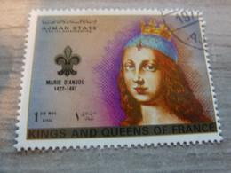 AJMAN - Trucial States - Marie D'Anjou - Kings And Queens Of France - 1riyal - Air Mail - Oblitéré -  Année 1972 - - Ajman