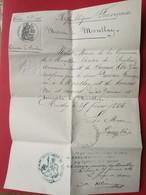 Montlay 1884 Certificat De Bonnes Mœurs - Ohne Zuordnung